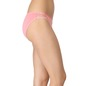Cotton Mid-Waist Bikini with Trimmed Elastic & Lacy Side Wings - Pink