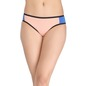 Cotton Mid Waist Color Block Bikini - Orange
