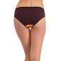 Cotton Mid Waist Colour Block Bikini - Brown