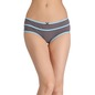 Cotton Mid-Waist Hipster with Contrast Band Design - Grey