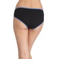 Cotton Mid-Waist Hipster with Contrast Elastic Band - Black