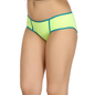 Cotton Mid Waist Hipster With Elastic Band - Green