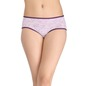 Cotton Mid-Waist Hipster with Floral Print - Purple