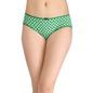 Cotton Mid Waist Printed Bikini - Green