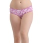 Cotton Mid-Waist Printed Bikini - Pink