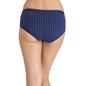 Cotton Mid-Waist Striped Hipster - Blue