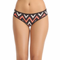 Cotton Mid Waist Bikini With Lace Trims - Orange