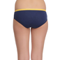 Cotton Mid Waisted Bikini With Contrast Elastic - Blue