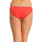 Cotton Mid Waisted Bikini With Contrast Elastic - Orange_4
