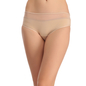 Cotton Mid Waisted Bikini With Contrast Waist - Skin