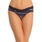 Cotton Mid Waisted Bikini With V-Shaped Front Waist - Blue