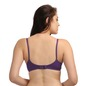 Cotton Non-Padded Demi Cup Bra - Purple