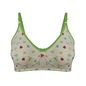 Cotton Non-Padded Full Cup Printed Bra - Green