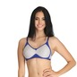 Cotton Non-Padded Non-Wired Bra with Contrast Cups - Blue
