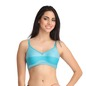 Cotton Non-Padded Non-Wired Full Cup Bra - Blue