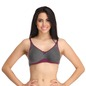 Cotton Non-Padded Non-Wired Full Cup Bra - Grey