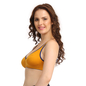 Cotton Non-Padded Wirefree Demi Cup Bra - Yellow