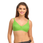 Cotton Non-Padded Wirefree Full Cup Bra - Green_1