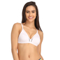 Cotton Non-Wired Non-Padded Bra In White With Detachable Straps