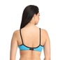 Cotton Non-Wired Non-Padded Full Cup T-shirt Bra - Blue