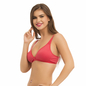 Cotton Non-Wired Non-Padded Bra In Pink With Demi Cups & U Back