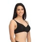 Cotton Non-Wired Non-Padded Plus Size Bra In Black