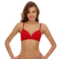 Cotton T-Shirt Bra With Soft Pads In Red