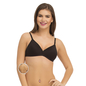 Cotton Padded Wirefree Bra With Detachable Straps - Black