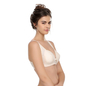 Cotton Padded Wirefree Demi Cup Nursing Bra - Skin