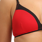 Cotton Padded Wirefree Plunge Demi Cup Bra With Detachable Straps - Red