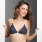 Cotton Polka Print Non-Padded Wirefree Demi Cup Bra - Blue
