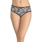 Cotton Printed High-Waist Hipster with Contrast Elastic - Black