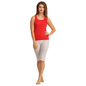 Cotton Racer Back Camisole & Yoga Capri - White