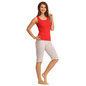 Cotton Racer Back Camisole & Yoga Capri - White_3