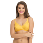 Cotton Non-Padded Non-Wired Bra In Yellow With Full Cups