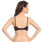 Cotton Rich Non Padded Wirefree T-shirt Bra In Black