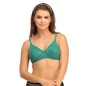 Cotton Rich Non Padded Wirefree T-Shirt Bra In Green