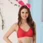 Cotton Rich Non Padded Wirefree T-shirt Bra In Reddish Pink