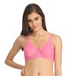 Cotton Rich Non Padded Wirefree T-Shirt Bra - Pink