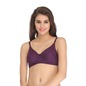 Cotton Rich Non-padded Wirefree T-shirt Bra - Purple