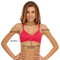 Cotton Rich T shirt Bra With Cross-Over Moulded Cups In Pink