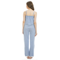 Cotton Striped Camisole & Full Length Pyjama - Blue