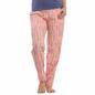 Cotton Striped Full Length Pyjama In Peach