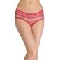 Cotton Printed Mid-Waist Hipster - Maroon
