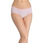 Cotton Striped Mid-Waist Hipster - Pink