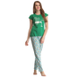 Cotton T-shirt & Pyjama Set In Green