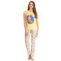 Cotton T-shirt & Pyjamas In Light & Golden Yellow