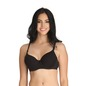 Cotton Underwired Padded Full Cup T- Shirt Bra with Detachable Straps - Black