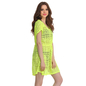 Crochet Kaftan In Florescent Green