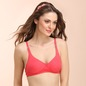 Cotton Rich Non-Padded Wirefree Full Cup Bra - Dark Pink
